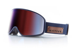 Native - Tenmile Serve & Protect Goggles, Blue Mirror Lenses
