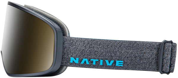 Native - Ten Mile Gray Tweed Snow Goggles / Blue Mirror Lenses