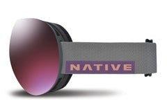 Native - Backbowl Dark Rip Goggles, Blue Mirror Lenses