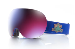 Native - Backbowl Ranger Goggles, Blue Mirror Lenses