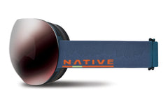 Native - Backbowl Timber Goggles, Silver Mirror Lenses