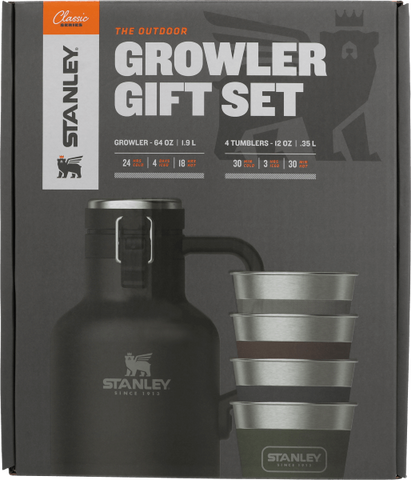 Stanley - Classic Outdoor Matte Black Multi Growler Gift Set