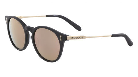 Dragon - Hype 51mm Matte Black Sunglasses / Rose Gold Ion Lenses