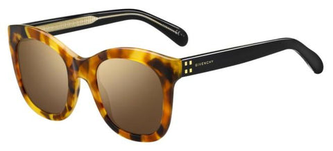 Givenchy - Gv 7103 S Brown Yellow Havana Sunglasses / Violet Lenses