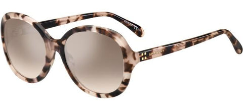Givenchy - Gv 7124 S Havana Pink Sunglasses / Brown Mirror Gradient Lenses