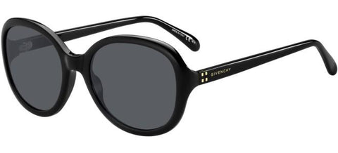 Givenchy - Gv 7124 S Black Sunglasses / Gray Blue Lenses