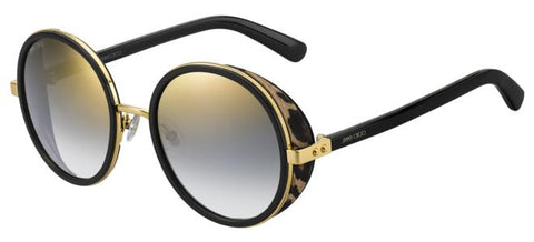 Jimmy Choo - Andie N S Gold Black Sunglasses / Gray Gold Lenses