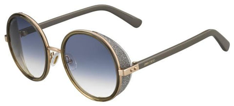 Jimmy Choo - Andie S Gold Copper Sunglasses / Gray Gradient Lenses