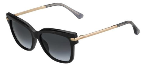 Jimmy Choo - Ara S Black Gold Copper Sunglasses / Dark Gray Gradient Lenses