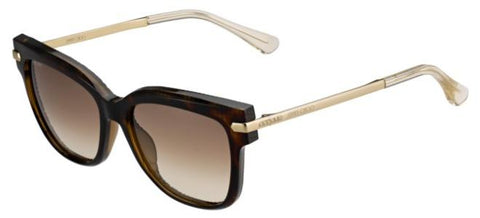 Jimmy Choo - Ara S Havana Rose Gold Sunglasses / Brown Gradient Lenses