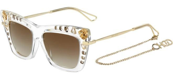 a790343afb4 Jimmy Choo - Bee S Crystal Gold Sunglasses   Gray Gold Lenses – New ...