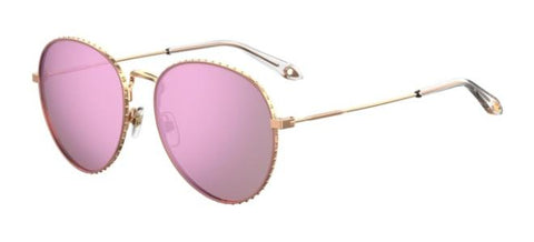 Givenchy - Gv 7089 S Gold Pink Sunglasses / Violet Mirror Lenses