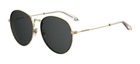 Givenchy - Gv 7089 S Gold Sunglasses / Gray Blue Lenses
