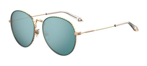Givenchy - Gv 7089 S Gold Green Sunglasses / Green Mirror Lenses