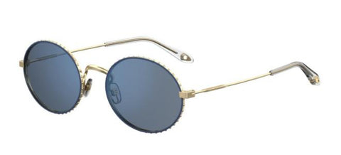 Givenchy - Gv 7090 S Gold Blue Sunglasses / Gold Lenses