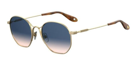 Givenchy - Gv 7093 S  Gold Sunglasses / Blue Gradient Lenses
