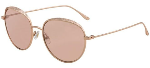 Jimmy Choo - Ello S Red Gold Nude White Sunglasses / Pink Flash Silver Lenses