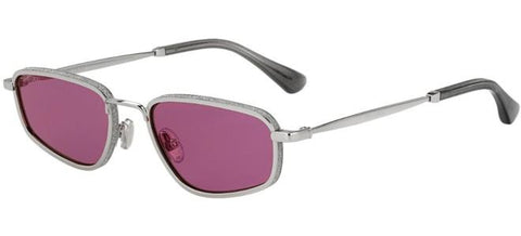 Jimmy Choo - Gal S Silver Sunglasses / Red Sol Lenses