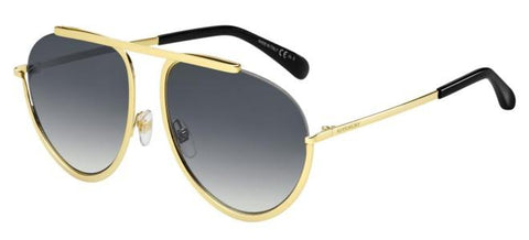 Givenchy - Gv 7112 S Gold Sunglasses / Dark Gray Gradient Lenses