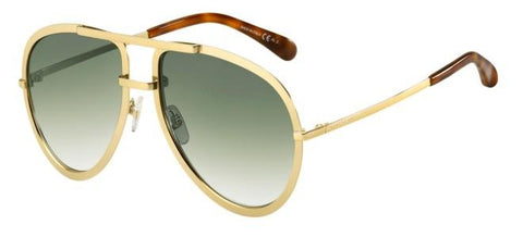 Givenchy - Gv 7113 S Gold Sunglasses / Gray Green Lenses