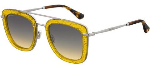 Jimmy Choo - Glossy S Yellow Sunglasses / Brown Ochre Lenses