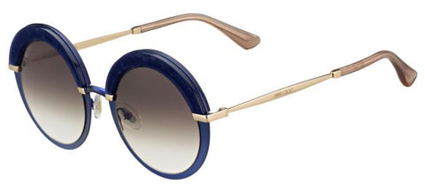 Jimmy Choo - Gotha S Blue Gold Sunglasses / Brown Gradient Lenses