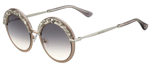 Jimmy Choo - Gotha S Semi Matte Sand Sunglasses / Dark Gray Gradient Lenses