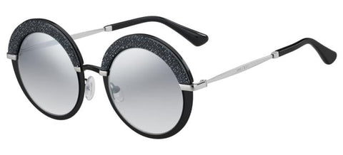 Jimmy Choo - Gotha S Matte Black Palladium Sunglasses / Violet Silver Mirror Lenses