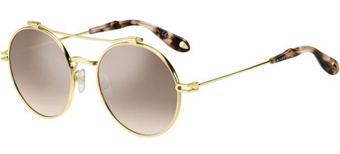 Givenchy - Gv 7079 S Rose Gold Sunglasses / Brown Mirror Gradient Lenses
