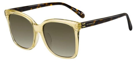 Givenchy - Gv 7114 F S Yellow Sunglasses / Brown Gradient Lenses