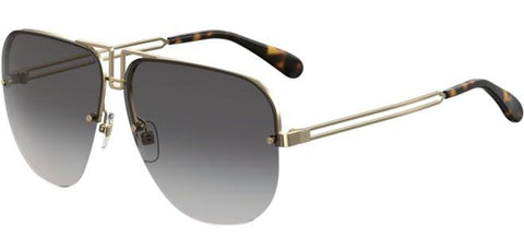 Givenchy - Gv 7126 S  Gold Sunglasses / Dark Gray Gradient Lenses