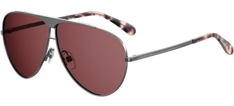 Givenchy - Gv 7128 S Ruthenium Powder Sunglasses / Burgundy Lenses
