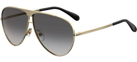 Givenchy - Gv 7128 S Gold Sunglasses / Dark Gray Gradient Lenses
