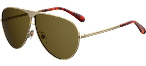 Givenchy - Gv 7128 S Gold Green Sunglasses / Green Lenses