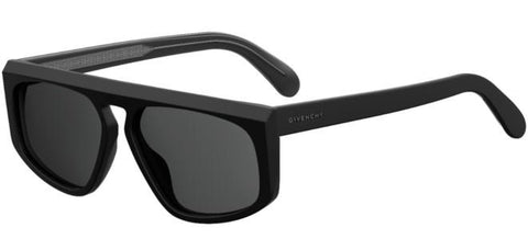 Givenchy - Gv 7125 S Matte Black  Sunglasses / Gray Blue Lenses