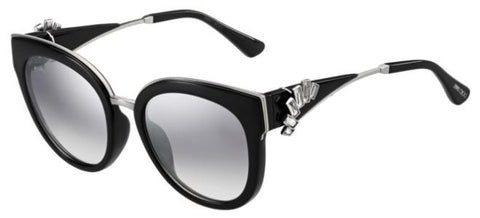 Jimmy Choo - Jade S Black Palladium Sunglasses / Violet Silver Mirror Lenses