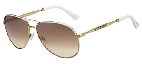Jimmy Choo - Jewly S Rose Gold Ivory Sunglasses / Brown Gradient Lenses