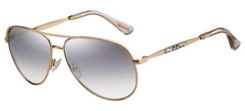 Jimmy Choo - Jewly S Gold Copper Sunglasses / Violet Silver Mirror Lenses