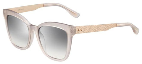 Jimmy Choo - Junia S Pink Sunglasses / Gray Mirror Shaded Silver Lenses