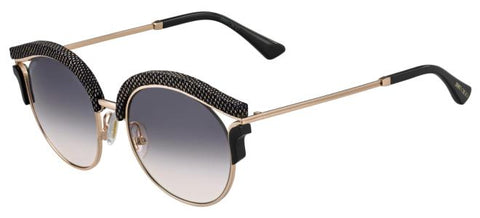 Jimmy Choo - Lash S Gold Copper Sunglasses / Dark Gray Gradient Lenses