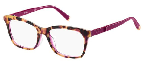 Max Mara - 1274 Violet Havana Purple Eyeglasses / Demo Lenses