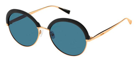 Max Mara - Ilde II Black Copper Gold Sunglasses / Blue Lenses