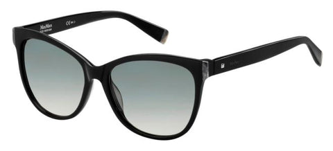 Max Mara - Thin Black Sunglasses / Gray Gradient Lenses
