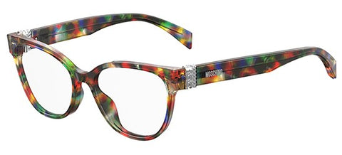 Moschino - Mos 509 Purple Black Multicolor Eyeglasses / Demo Lenses