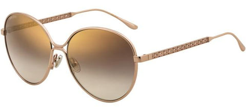 Jimmy Choo - Neva F S Red Gold Nude White Sunglasses / Gray Green Lenses