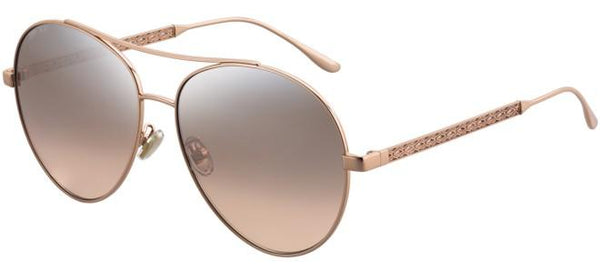 Jimmy Choo - Noria F S Red Gold Nude White Sunglasses / Brown Mirror Gradient Lenses