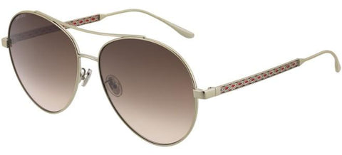 Jimmy Choo - Noria F S Gold Red Sunglasses / Brown Gradient Lenses