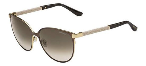 Jimmy Choo - Posie S Brown Sunglasses / Brown Gradient Lenses