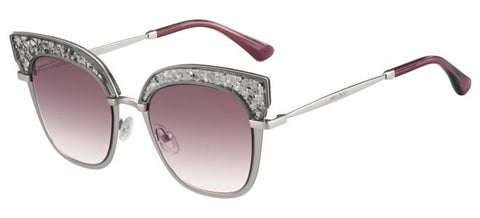 Jimmy Choo - Rosy S Light Matte Gold Sunglasses / Burgundy Shaded Lenses