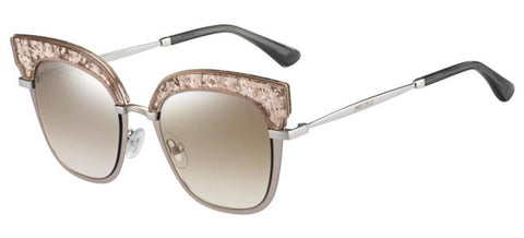 Jimmy Choo - Rosy S Nude Palladium Sunglasses / Brown Mirror Gradient Lenses